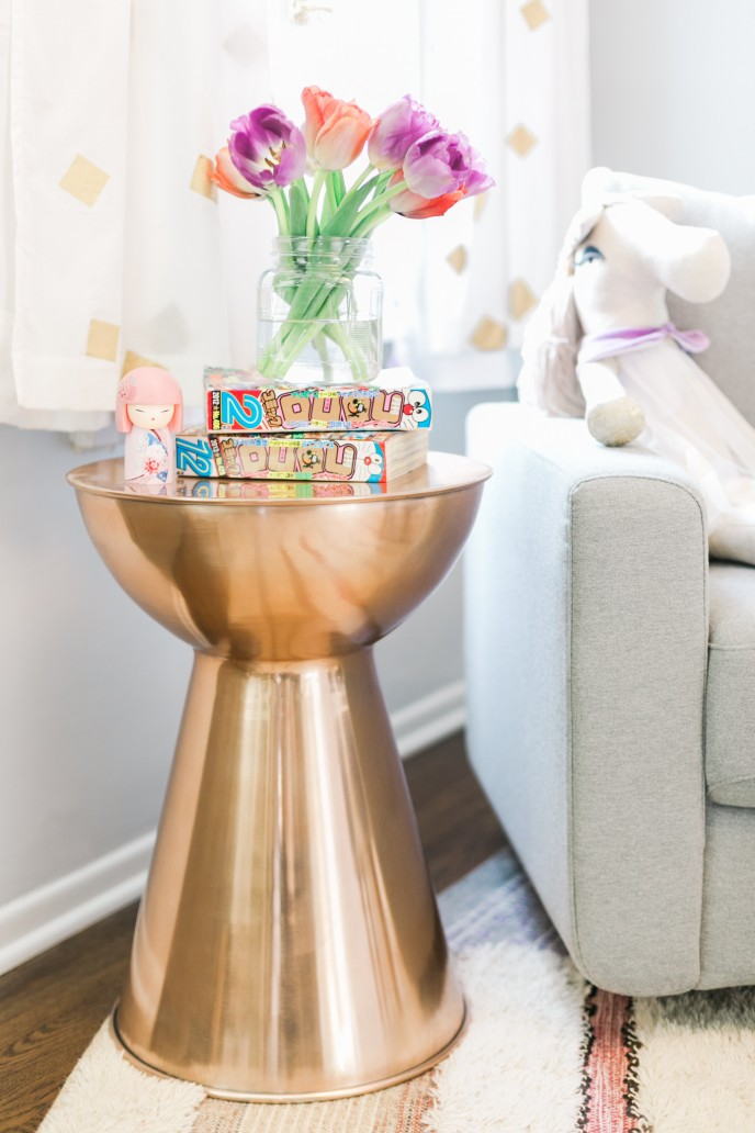 This Rose Gold Drum Table Was Another Target Score. Rose Gold Is Bursting  Through The Jewelry Scene Right Now, But Itu0027s Pretty Rare To See It In The  Home ...